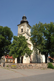 The late-Baroque St. Mary's Birth Parish Church in Nowe Kramsko from the  second half of the 18th c.