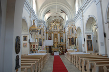 The interiors of the late-Baroque St. Lawrence's Parish Church.