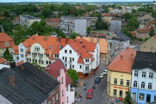 A view of the centre of Sulechów from the town hall tower
