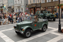 The equipment exhibited in LMW (the Lubuskie Military Museum) in Drzonów is roadworthy. Here, 'with a visit' to the walking zone in Zielona Góra