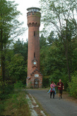 The so called Bismarck Tower built in the forest near Wilkanowo in 1902, at present an observation centre