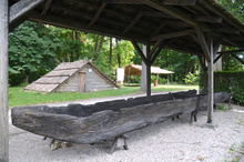 One of the exhibits at MAŚN – a dugout canoe from the 10th c., excavated from the Odra River near Nowa Sól