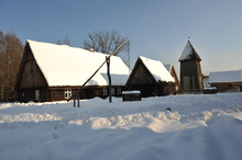 The Skansen in winter attire