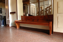 A bench restored according to the original pattern by H. van de Velde
